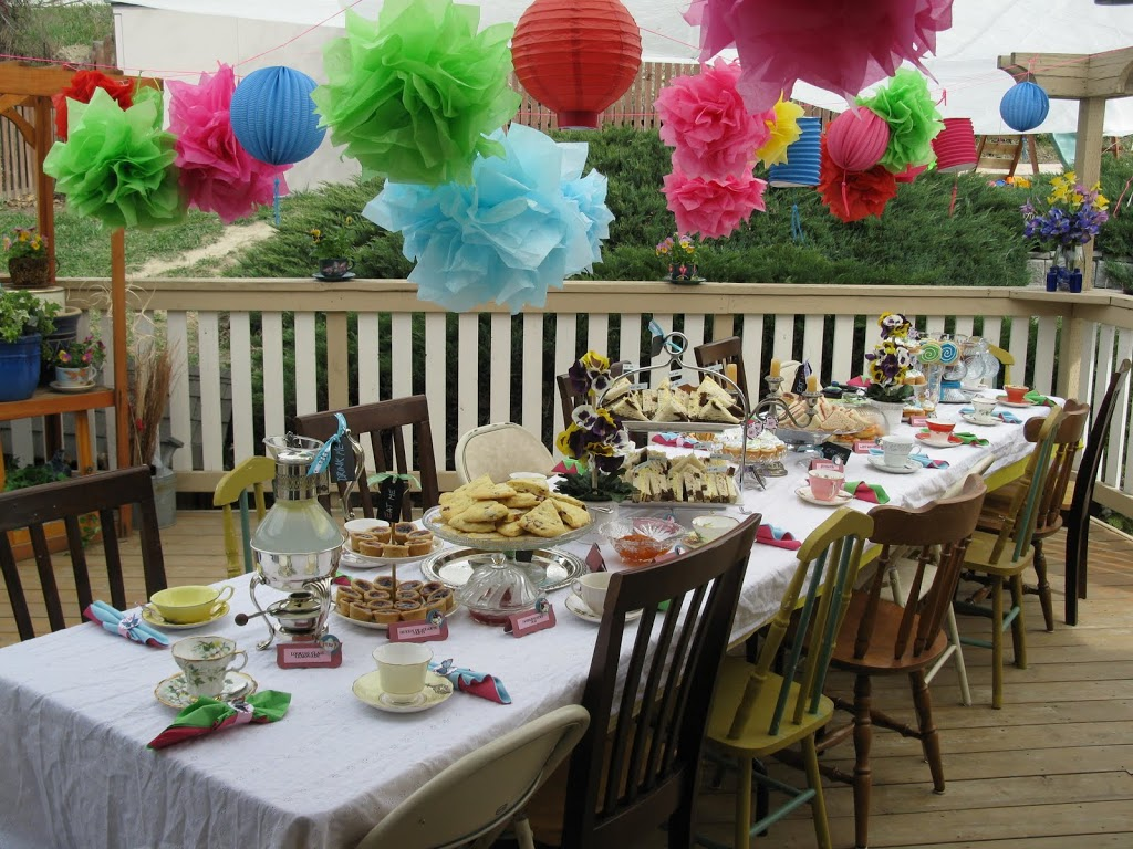 Mad hatter tea party part ii dragonfly designs - Mad hatter tea party decoration ideas ...