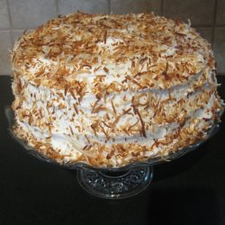 Banana Coconut Cream Cake
