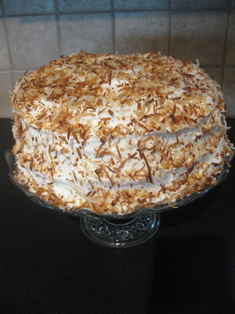 Banana Coconut Cream Cake