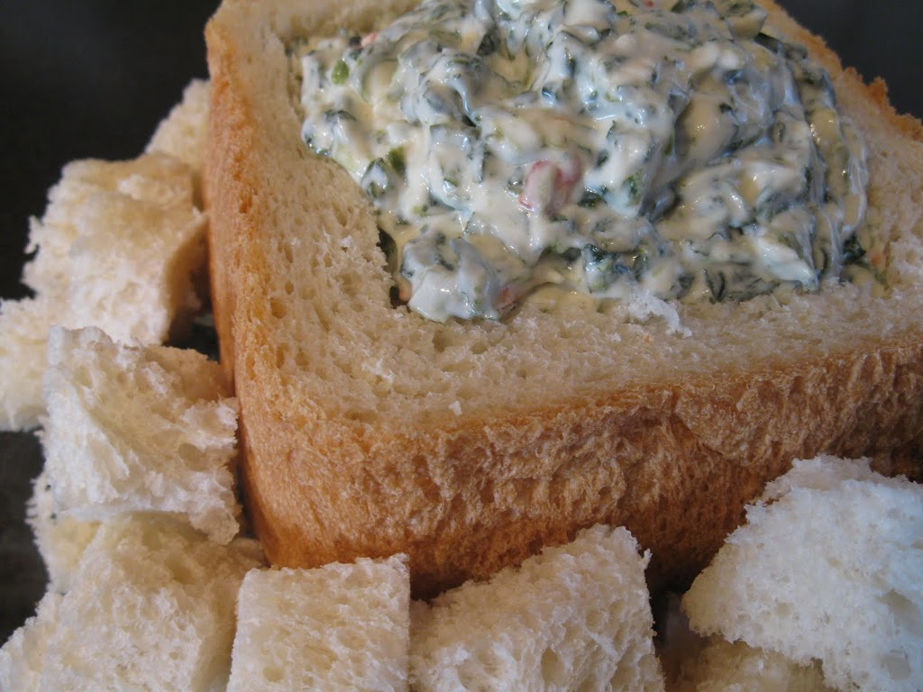 Bread Maker Bread and Spinach Dip