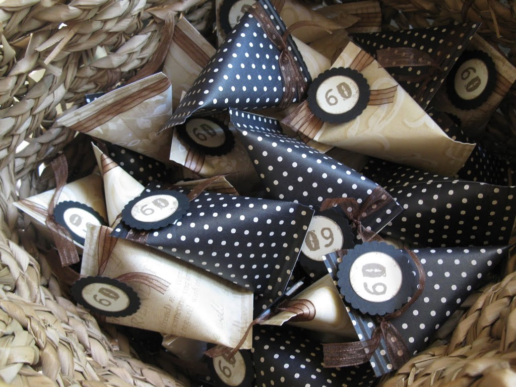 60th Wedding Anniversary – Party Favours