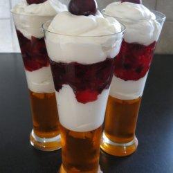 Cherry Raspberry Jello Parfait