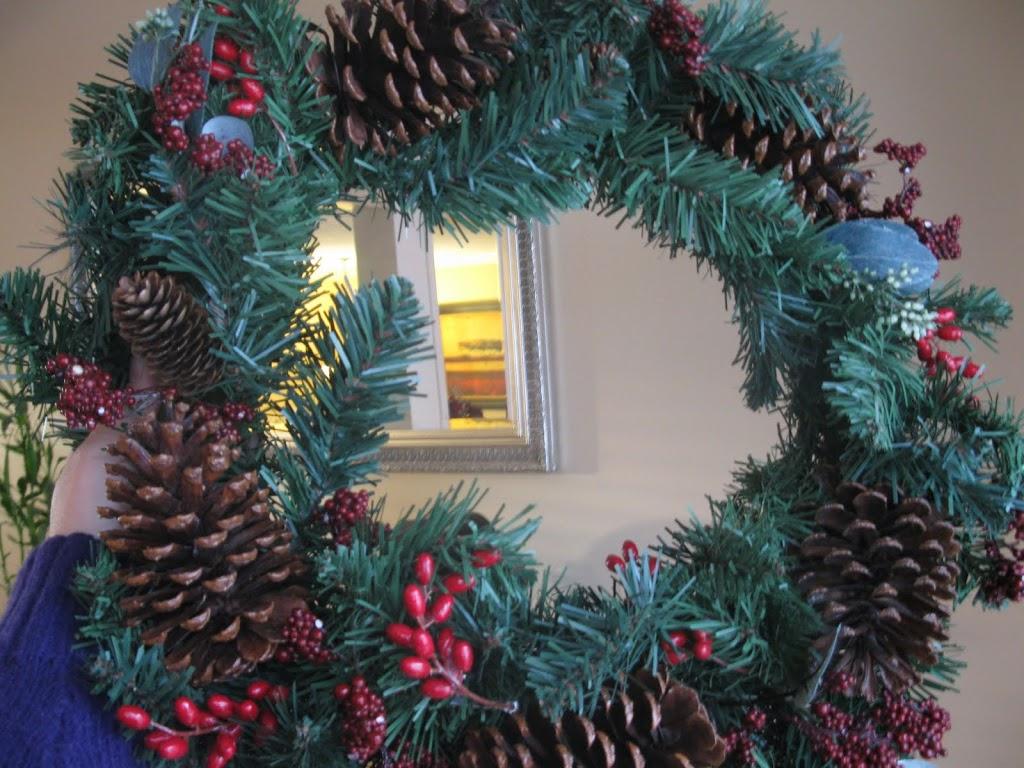 Upcycled Holiday Wreath