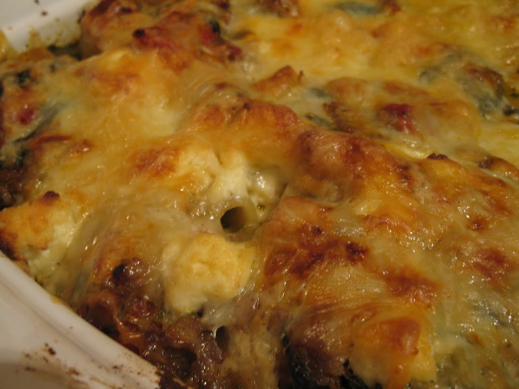 Sausage Spinach Bake