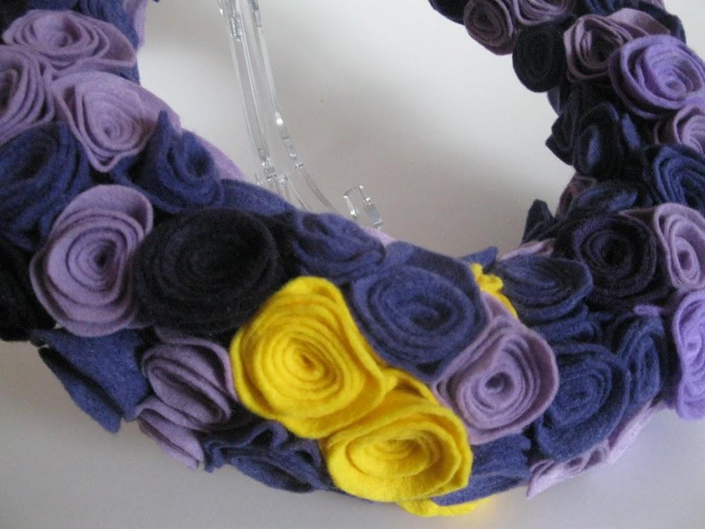 Felt Rosette Wreath Tutorial