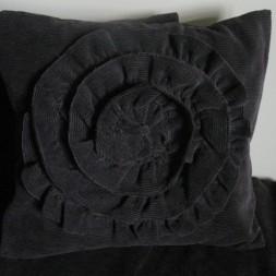 Ruffle Corduroy Pillow