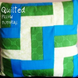 Quilted Pillow Tutorial and GIVEAWAY