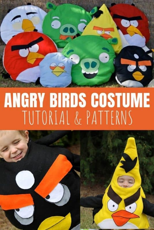angry birds costume tutorial and patterns