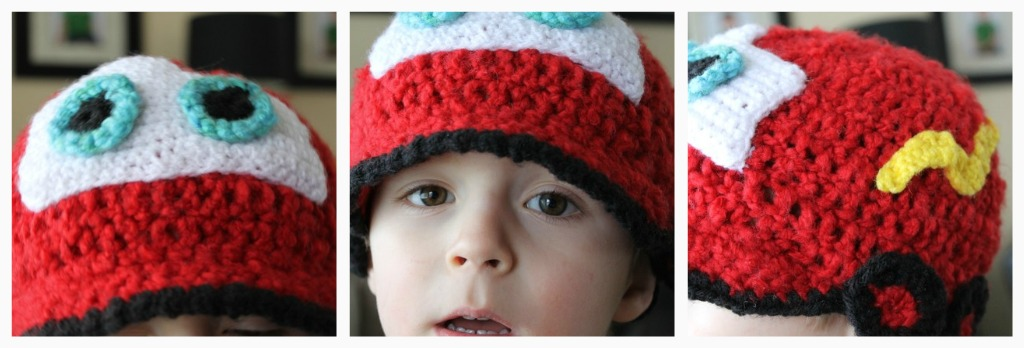 Crochet Lightening McQueen Hat Pattern