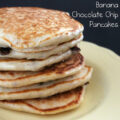 Cooking With Kids ~ Banana Chocolate Chip Pancakes