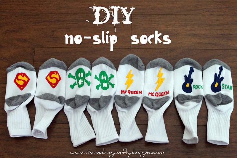 DIY No-Slip Socks