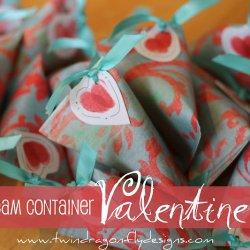 Valentine Sour Cream Container Tutorial