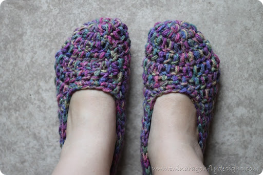 Crochet Slippers Pattern Dragonfly Designs