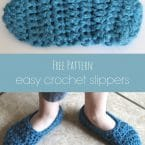 easy crochet slipper free pattern