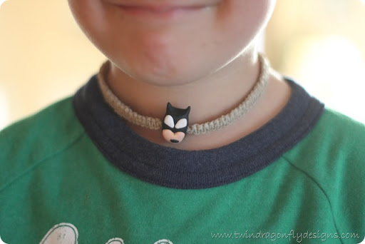 super hero hemp necklace