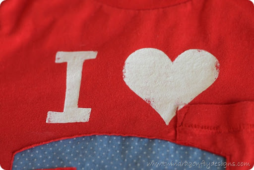 I {Heart} Camping T-shirt ~ a tutorial