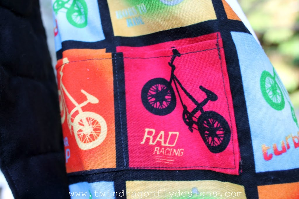 Little Boy Bike Bag ~ a tutorial