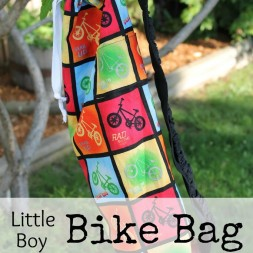 Little Boy Bike Bag ~ a tutorial