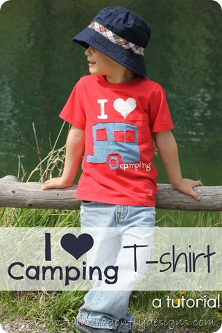DIY camping tshirt tutorial