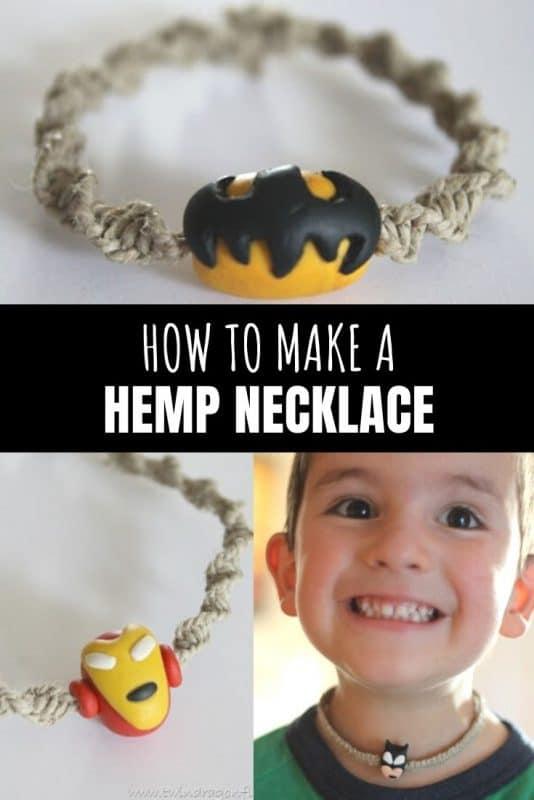 how to make a hemp necklace
