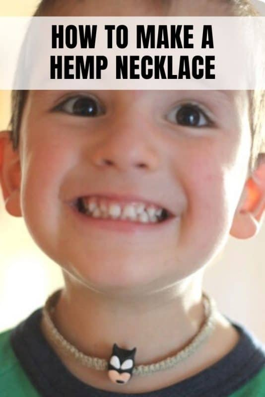 how to make a hemp necklace tutorial