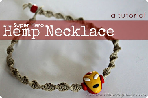 Super Hero Hemp Necklace Tutorial Dragonfly Designs