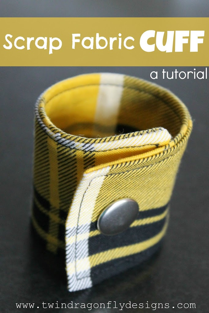 Scrap Fabric Cuff ~ a tutorial