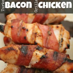 Turkey Bacon Grilled Chicken