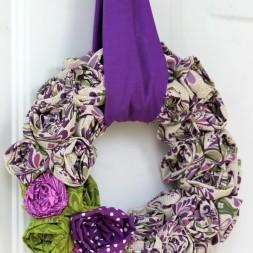 Scrap Rosette Wreath ~ a tutorial