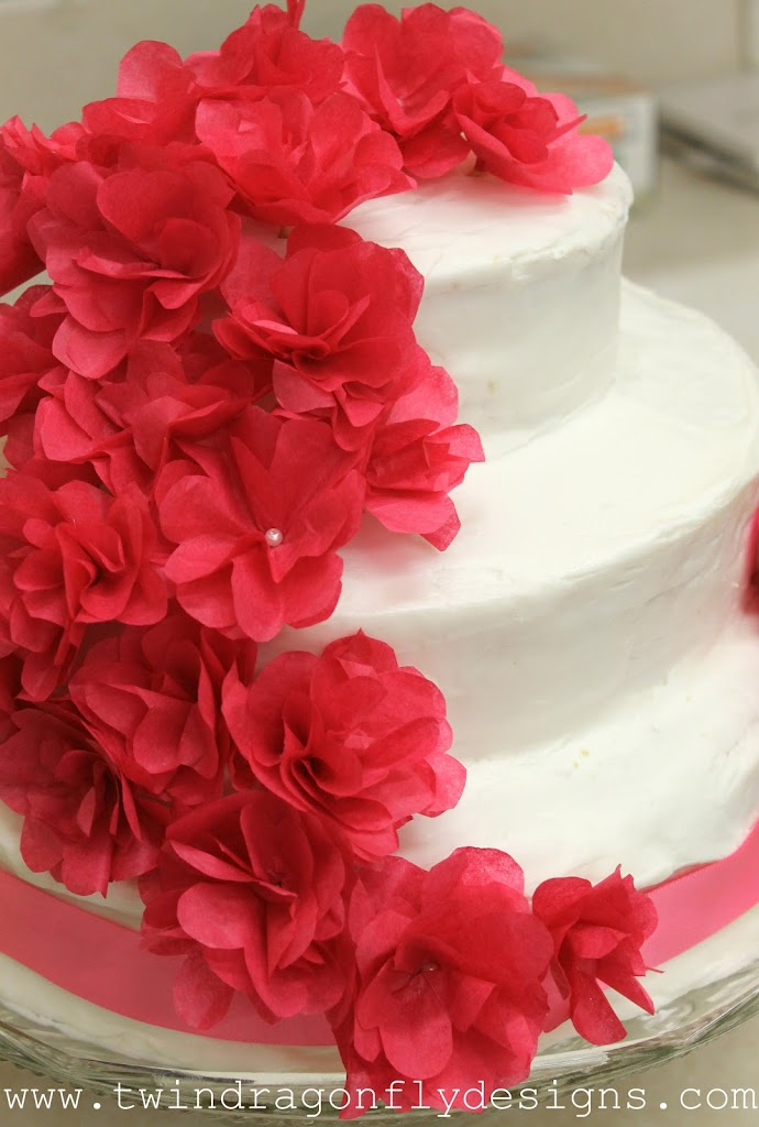 Raspberry White Chocolate Ganache Wedding Cake