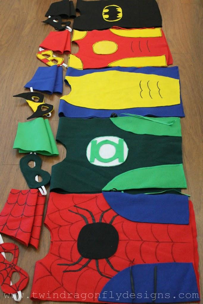 No sew super hero costumes tutorial dragonfly designs - Costume de super heros ...
