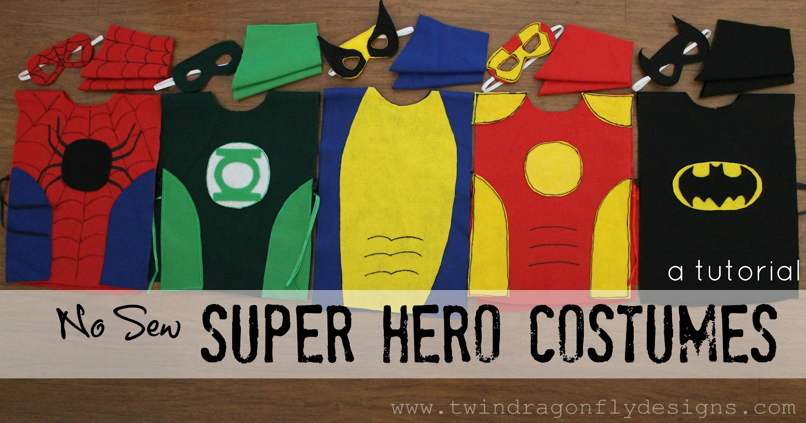 No Sew SUPER HERO COSTUMES Tutorial & No Sew SUPER HERO COSTUMES Tutorial » Dragonfly Designs