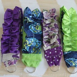 Ruffled Key Fobs
