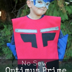 No Sew OPTIMUS PRIME Costume