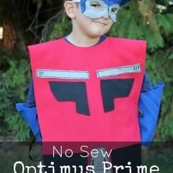 No Sew OPTIMUS PRIME Costume