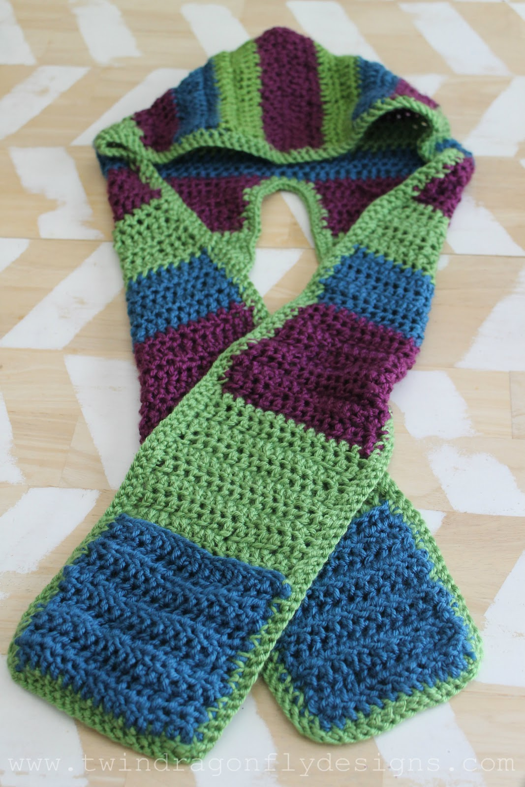 Crochet Hooded Scarf Pattern  U00bb Dragonfly Designs