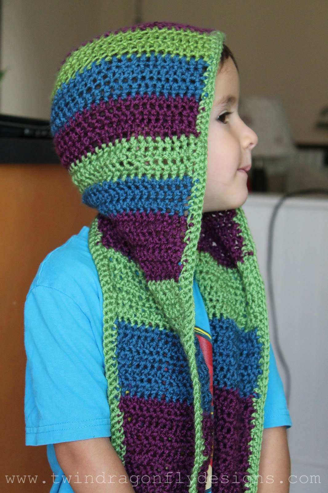 Crochet Hooded Scarf Pattern Amazing Design
