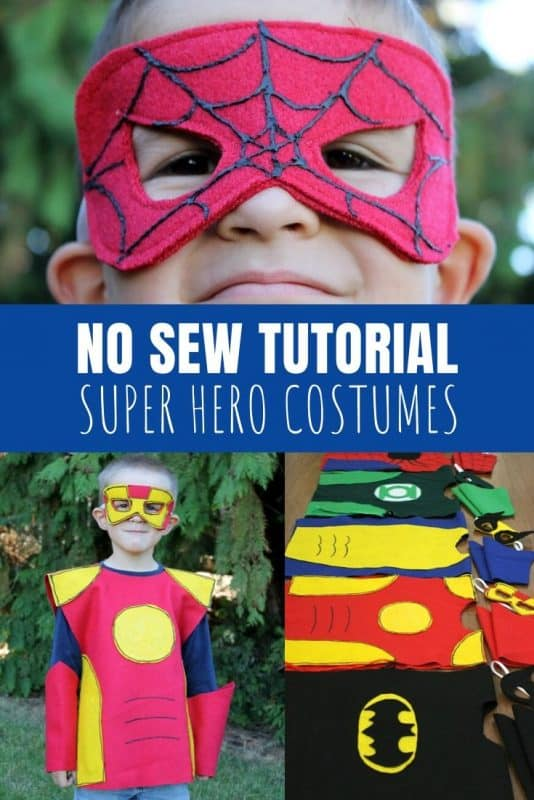 no sew super hero costumes