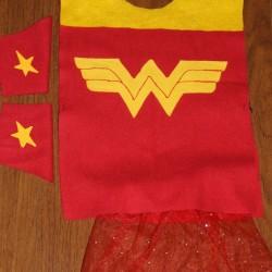 A couple of last minute superhero costumes…