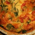 Cheesy Ham and Spinach Quiche