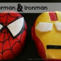 Spiderman and Ironman Cakes ~ a tutorial