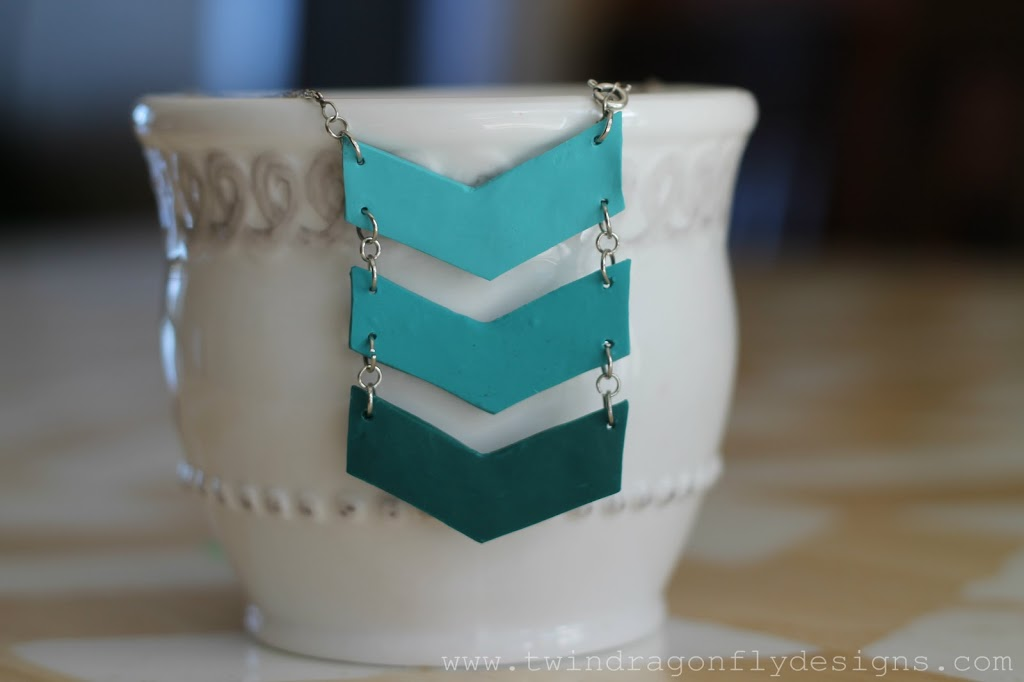 Ombre Chevron Earring Tutorial