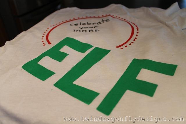 DIY Elf T-shirt