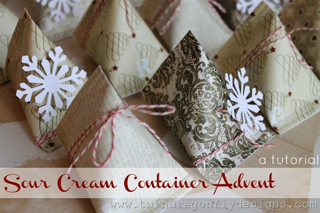 Sour Cream Container Advent Place Setting (18)