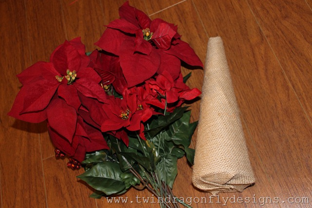Poinsettia Petal Trees