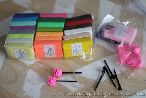Polymer Clay Flower Hair Pins and a Whole Port Review