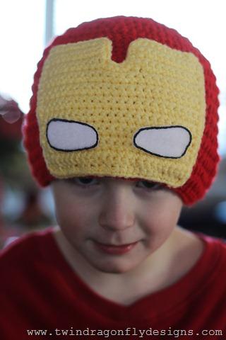 ea03ccdfed1 Superhero Crochet Beanies » Dragonfly Designs