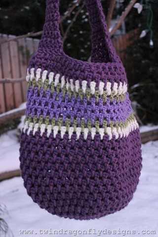 Purple Market Bag