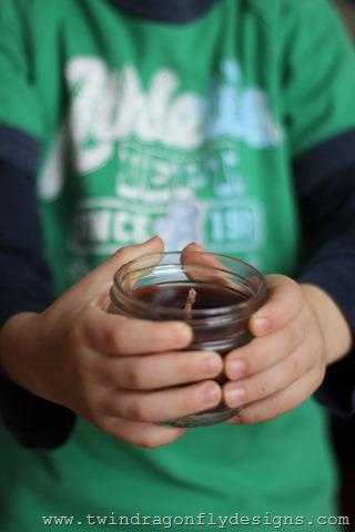 Mason Jar Cinnamon Candles