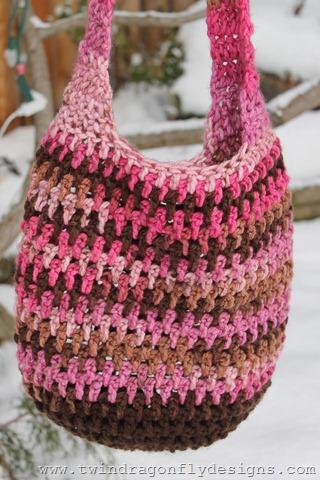 Pink and Brown Market Bag